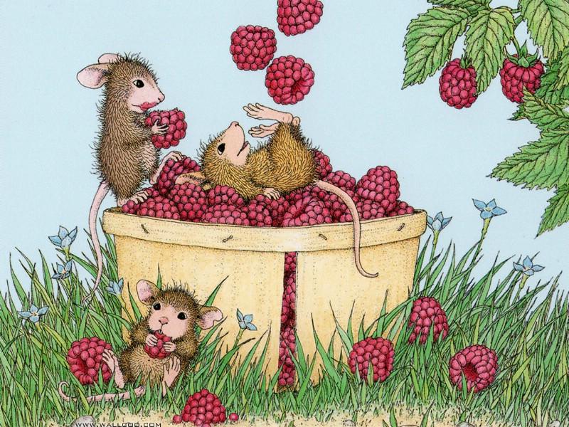 壁纸800×600玩耍 可爱小老鼠插画壁纸壁纸 鼠鼠一家温馨小老鼠插画壁纸壁纸图片绘画壁纸绘画图片素材桌面壁纸