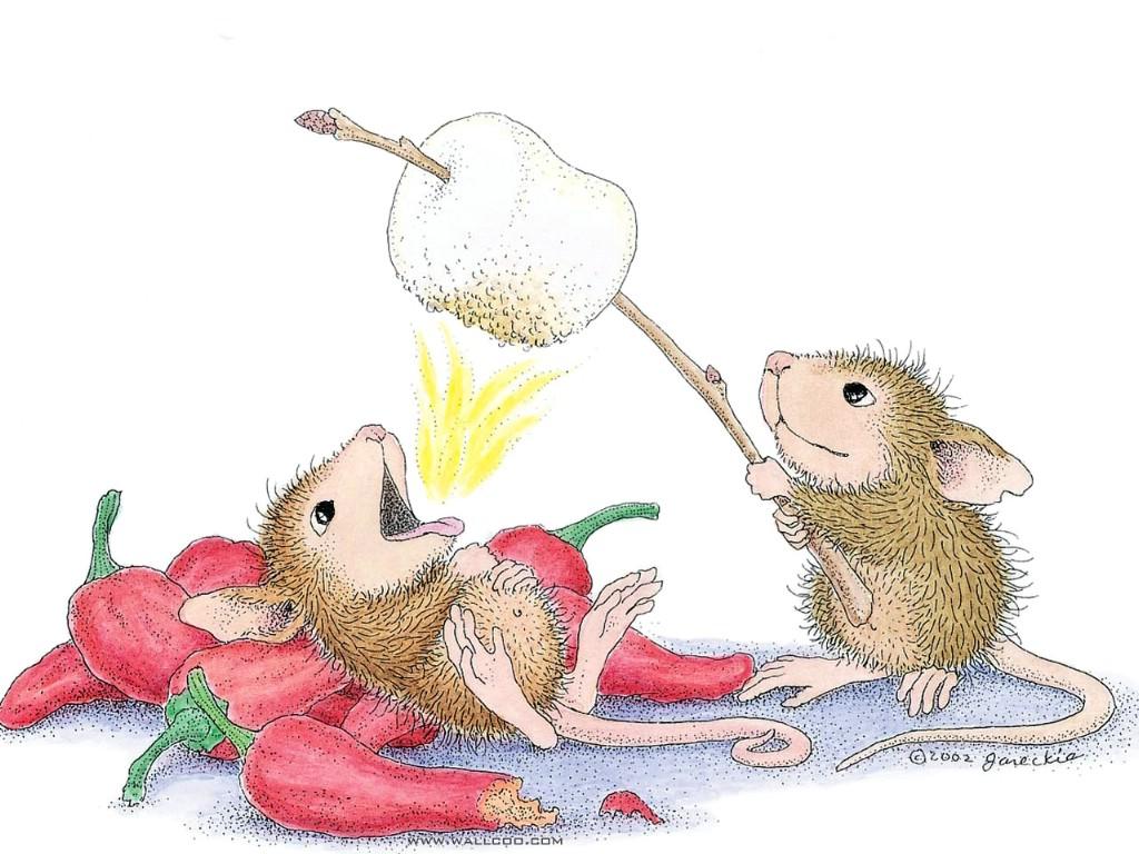 bath time 可爱小老鼠插画原画 beauty parlour 可爱小老鼠插画壁纸