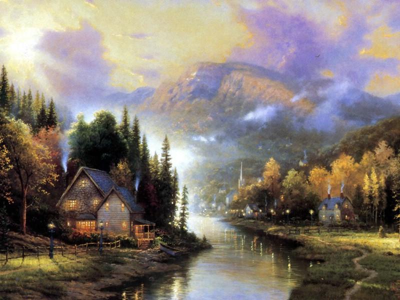 美国乡村风景壁纸