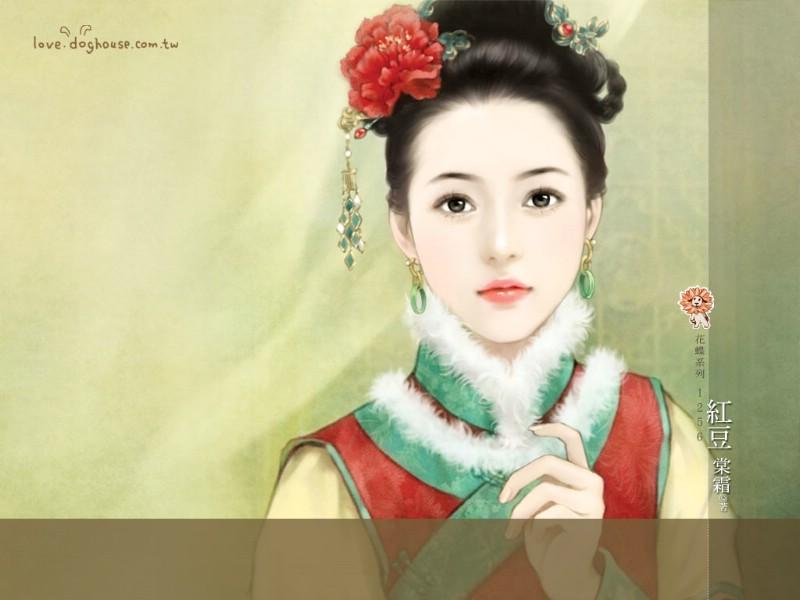 古代宫斗女子丹青图清朝美女手绘清朝美女清代美女