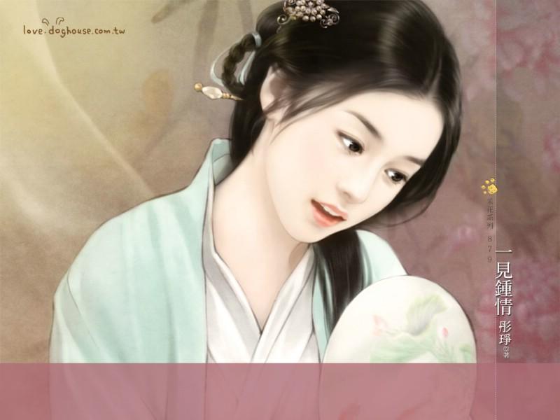 壁纸800×600中国古代美女绘画壁纸壁纸 言情