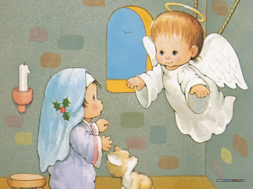 天使长加百列去见玛利亚壁纸,圣诞节的来历 耶稣基督出生的圣经故