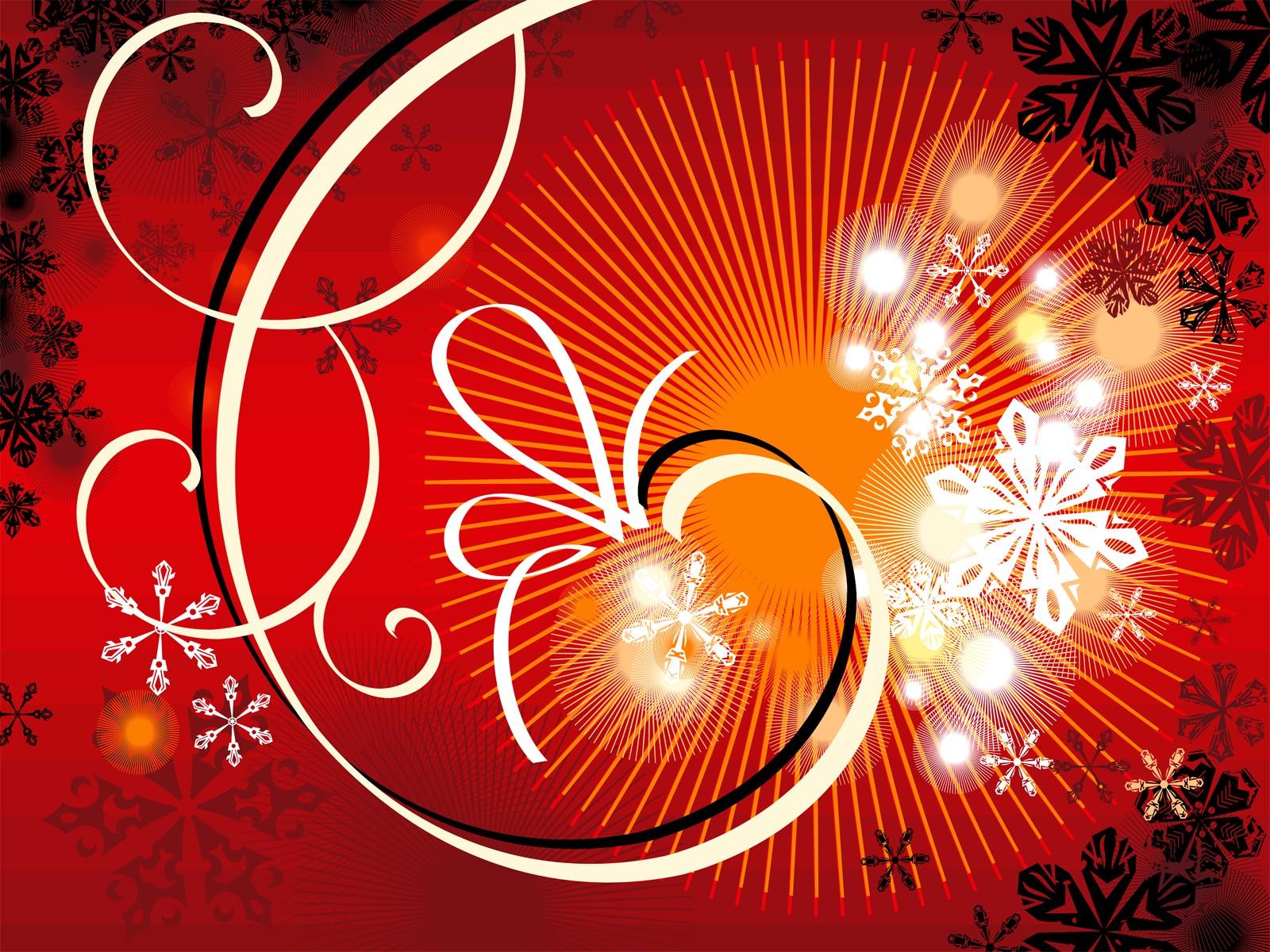 壁紙1600×1200圣誕節簡約線條圖案
