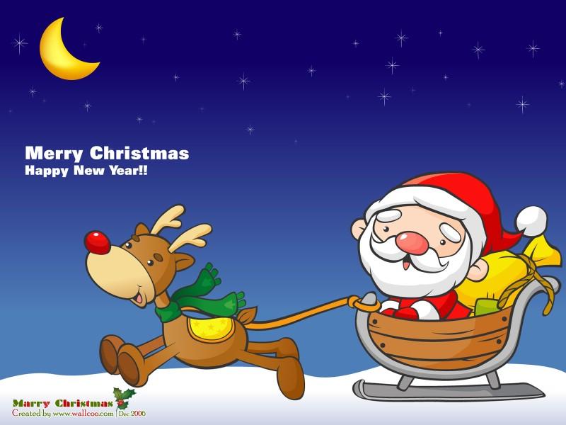 壁纸800 600圣诞节卡通壁纸圣诞搞笑趣味插画搞 高清图片