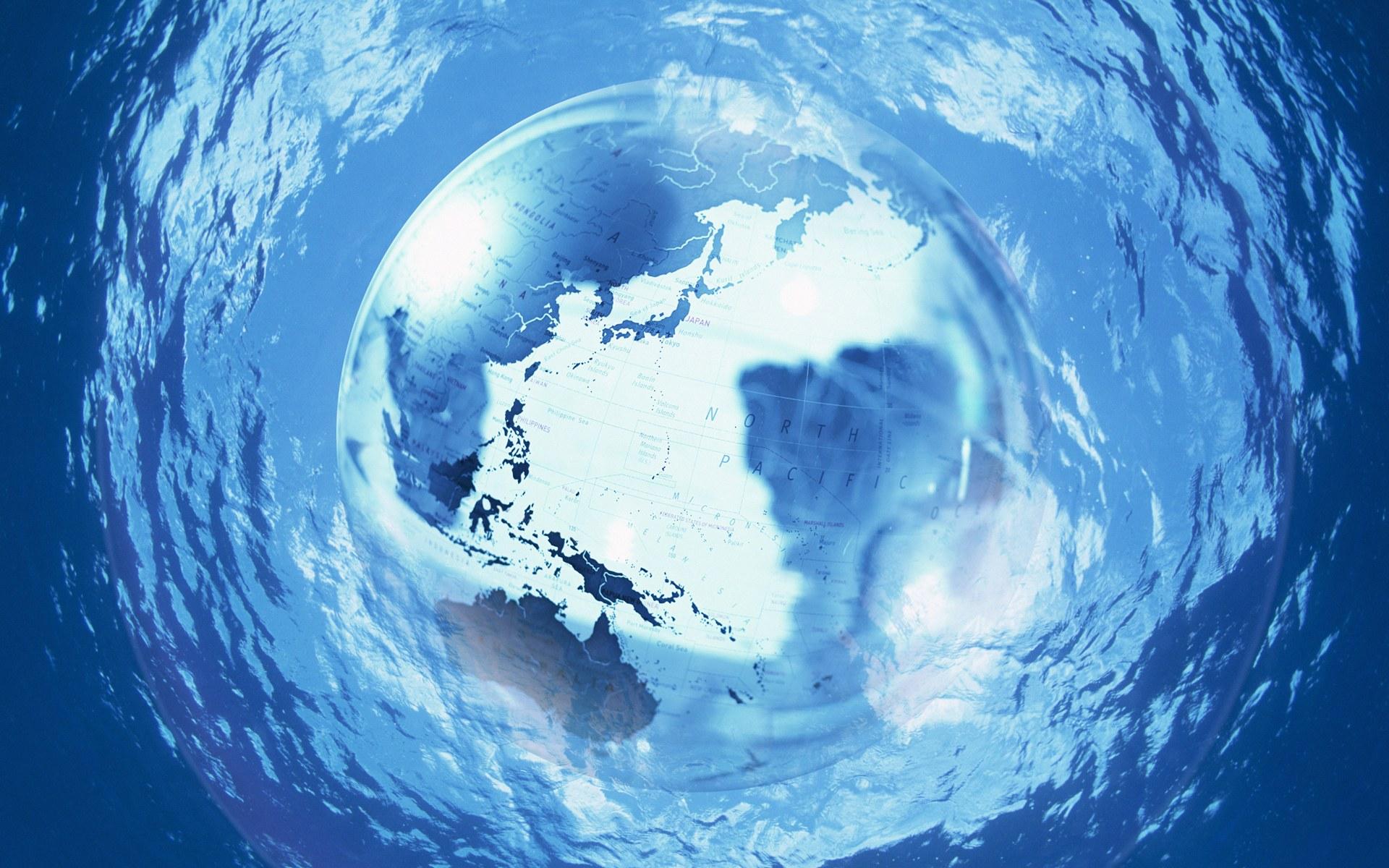 环保主题设计壁纸 地球水