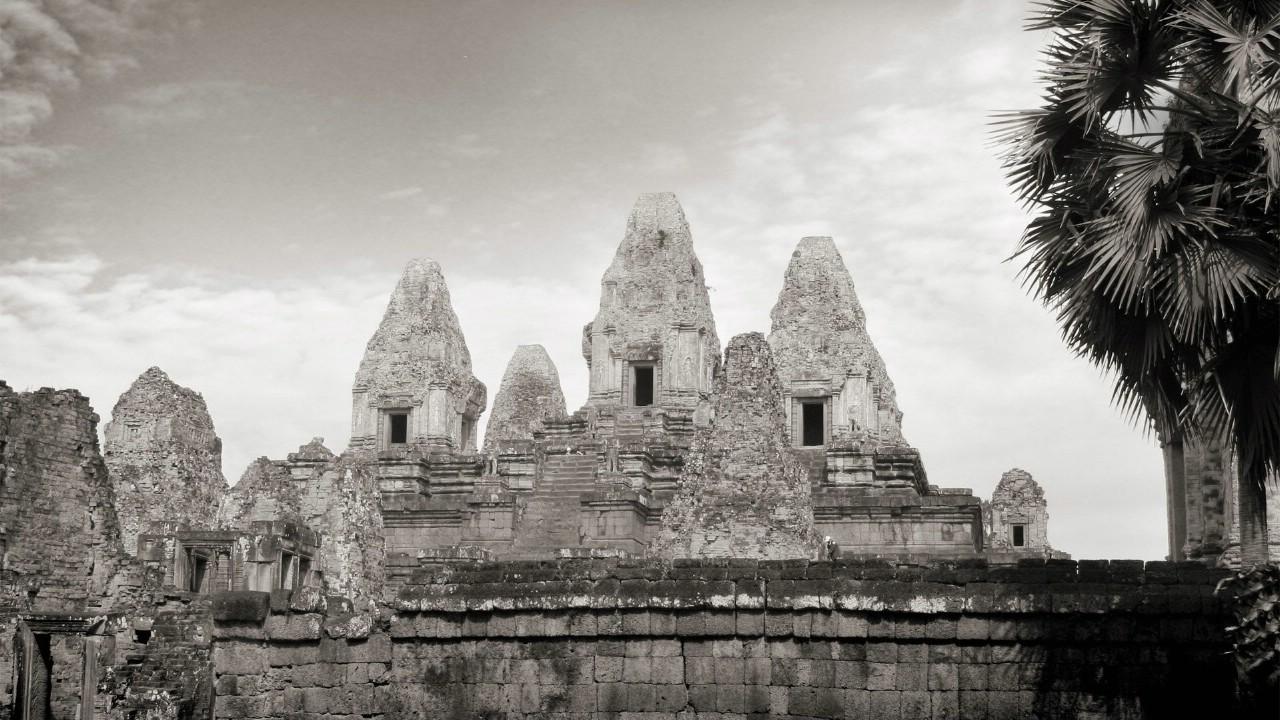 壁纸1280×720纯粹的光影美学 人文建筑黑白摄影壁纸 Pre Rup Temple Cambodia 柬埔寨吴哥窟的变身塔桌面壁纸壁纸 纯粹的光影美学人文建筑黑白摄影壁纸壁纸图片人文壁纸人文图片素材桌面壁纸