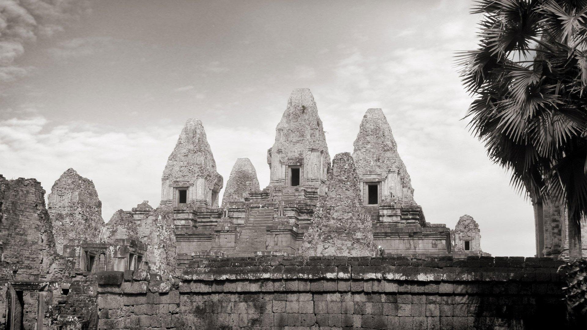 壁纸1920×1080纯粹的光影美学 人文建筑黑白摄影壁纸 Pre Rup Temple Cambodia 柬埔寨吴哥窟的变身塔桌面壁纸壁纸 纯粹的光影美学人文建筑黑白摄影壁纸壁纸图片人文壁纸人文图片素材桌面壁纸