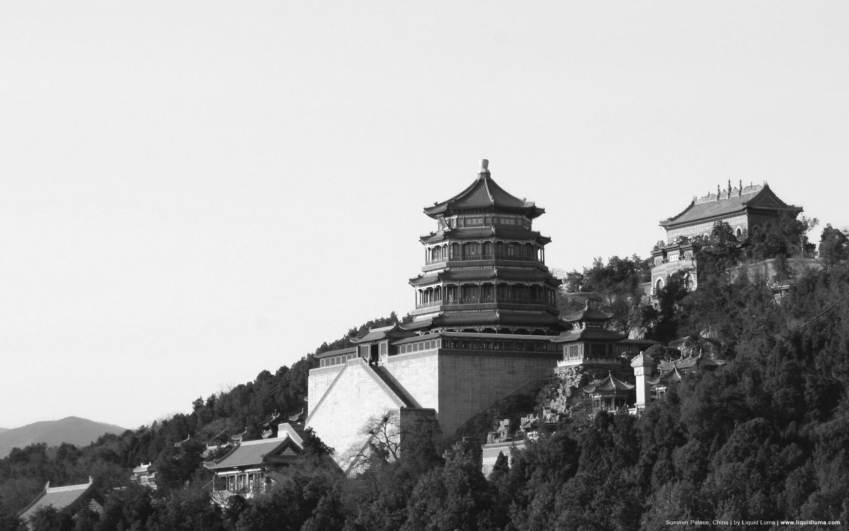 壁纸1680×1050纯粹的光影美学 人文建筑黑白摄影壁纸 Summer Palace China 北京颐和园桌面壁纸壁纸 纯粹的光影美学人文建筑黑白摄影壁纸壁纸图片人文壁纸人文图片素材桌面壁纸