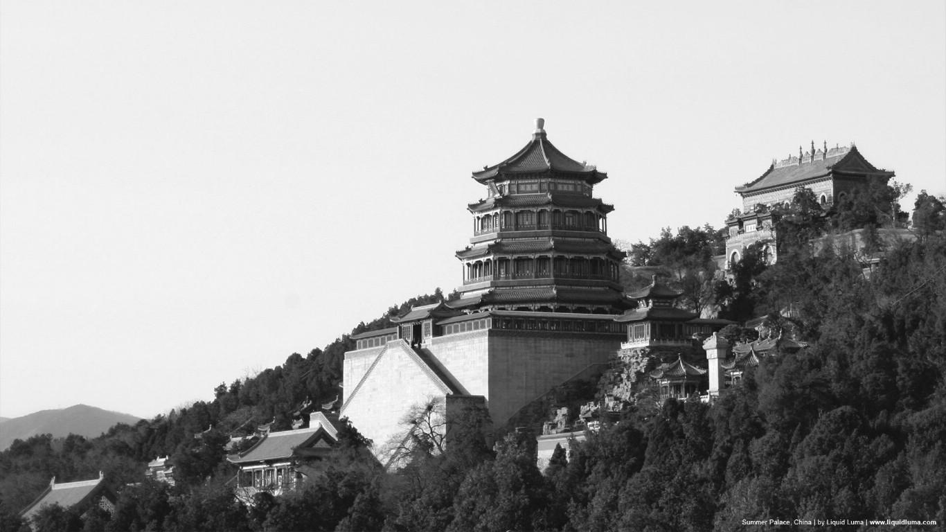 壁纸1366×768纯粹的光影美学 人文建筑黑白摄影壁纸 Summer Palace China 北京颐和园桌面壁纸壁纸 纯粹的光影美学人文建筑黑白摄影壁纸壁纸图片人文壁纸人文图片素材桌面壁纸