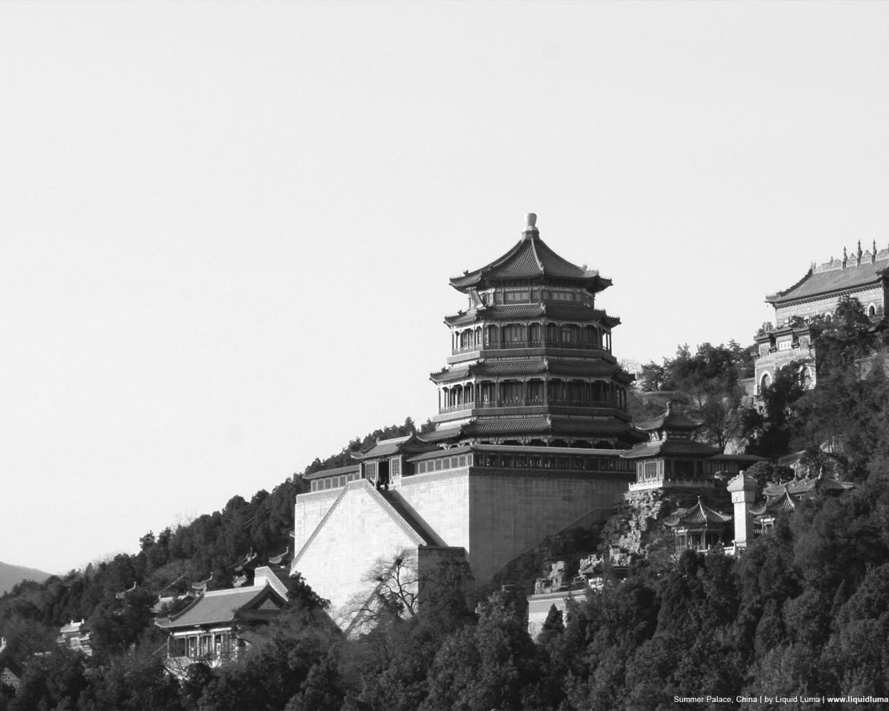 黑白颐和园; 黑白颐和园-武汉皇宫婚纱摄影_武汉婚纱摄影_主题婚纱