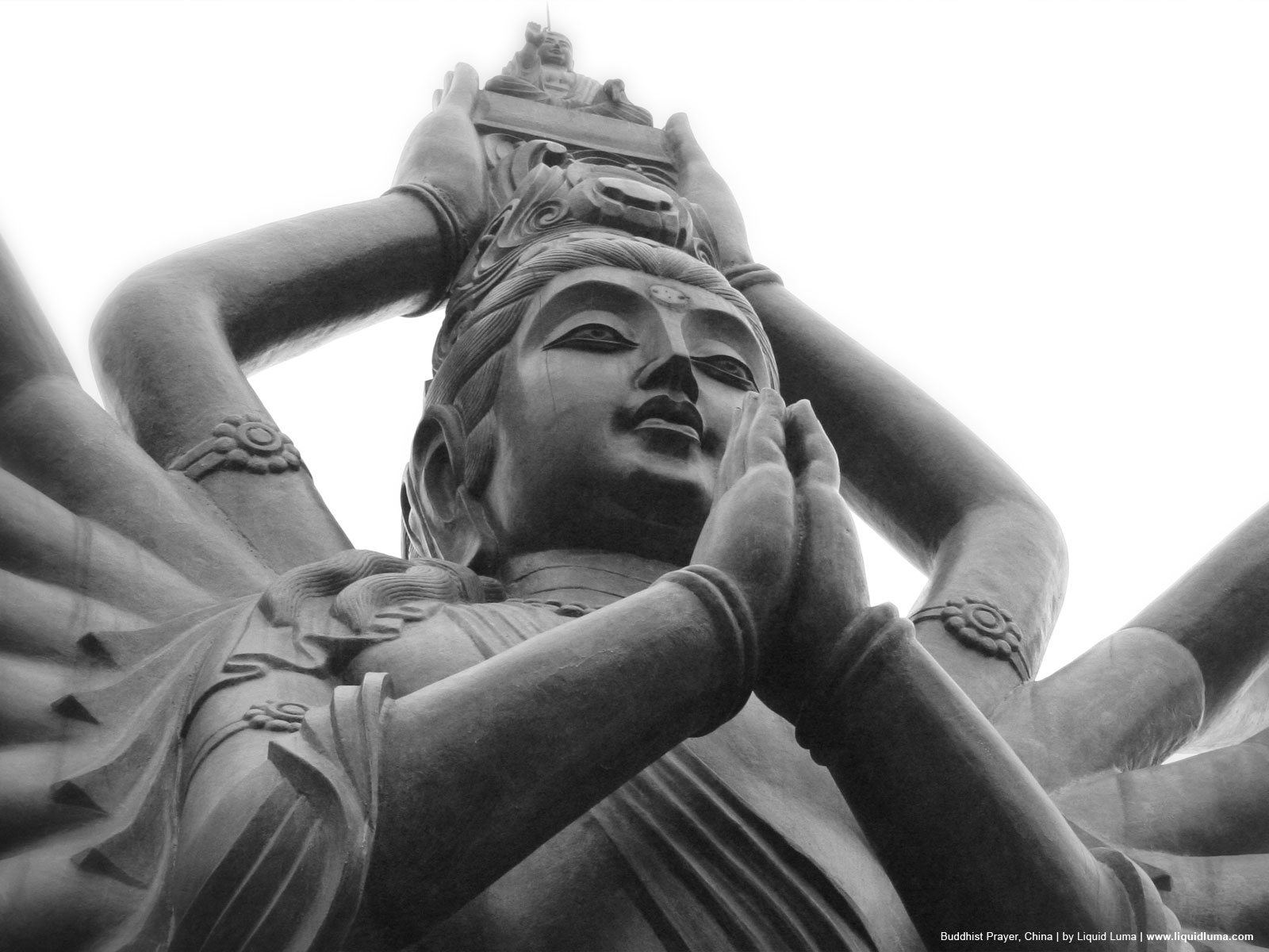 壁纸1600×1200纯粹的光影美学 人文建筑黑白摄影壁纸 Buddhist Prayer China 中国千手观音桌面壁纸壁纸 纯粹的光影美学人文建筑黑白摄影壁纸壁纸图片人文壁纸人文图片素材桌面壁纸