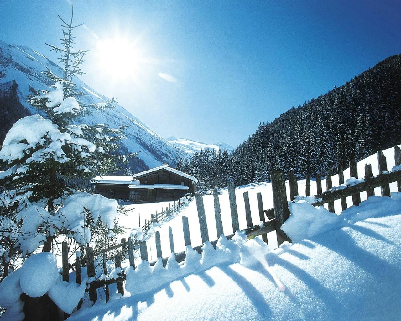 壁纸1280×1024滑雪圣地 阿尔卑斯山度假壁纸 雪山小屋图片壁纸壁纸 滑雪圣地阿尔卑斯山度假壁纸壁纸图片人文壁纸人文图片素材桌面壁纸