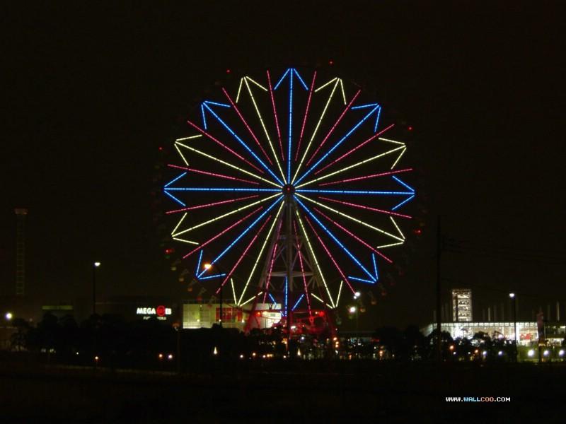 壁纸800×600日本夜色摩天轮 Odaiba Ferris wheel 日本夜景摩天轮图片 Japan Travel Odaiba Ferris wheel Photo壁纸 日本夜景夜色摩天轮壁纸图片人文壁纸人文图片素材桌面壁纸