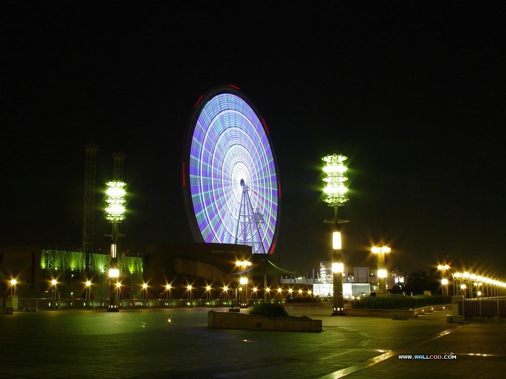 壁纸1024×768日本夜色摩天轮 Odaiba Ferris wheel 日本夜景摩天轮图片 Japan Travel Odaiba Ferris wheel Photo壁纸 日本夜景夜色摩天轮壁纸图片人文壁纸人文图片素材桌面壁纸