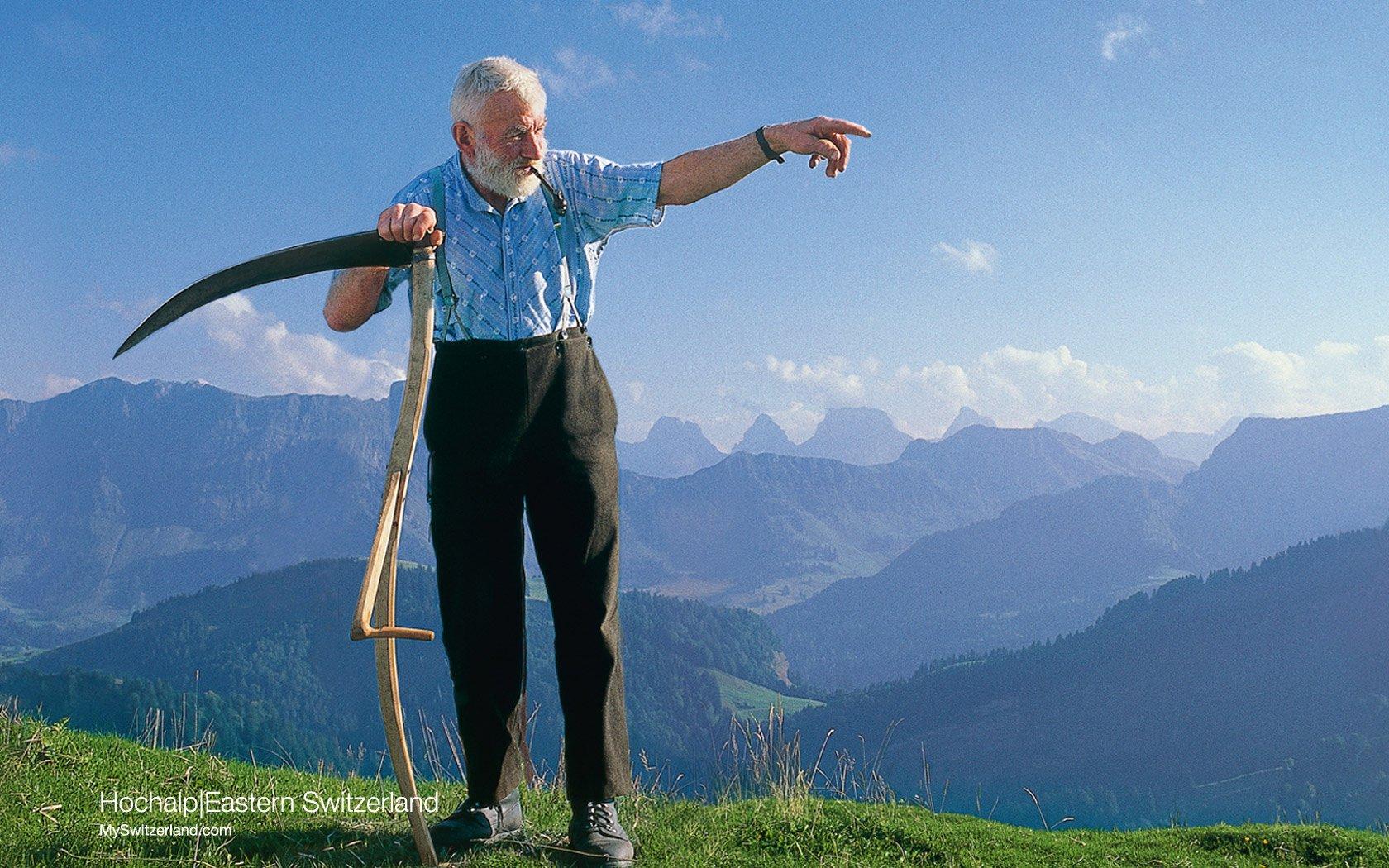 壁纸 瑞士/世界公园瑞士夏季旅游名胜Hochalp Eastern Switzerland 森蒂斯...