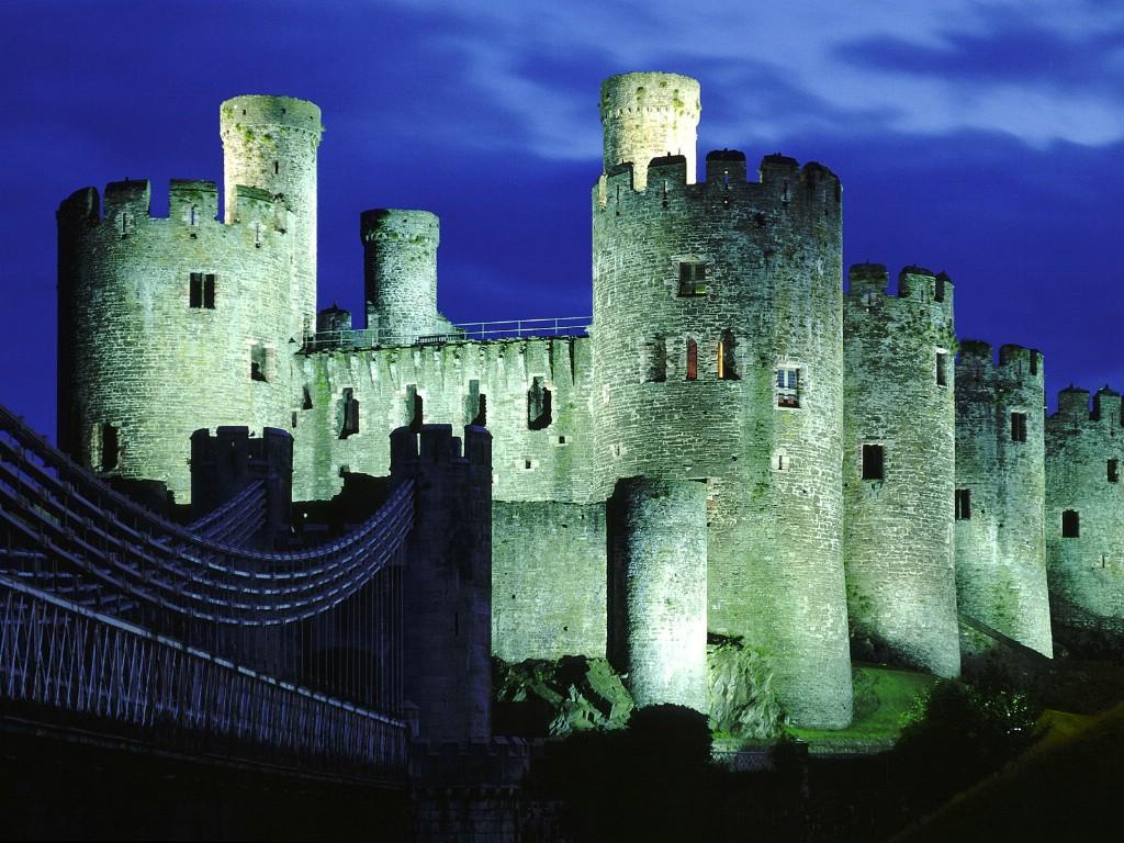 壁纸1024×768英国威尔士 世界文化遗产康威城堡壁纸壁纸 文化之旅地理人文景观一壁纸图片人文壁纸人文图片素材桌面壁纸