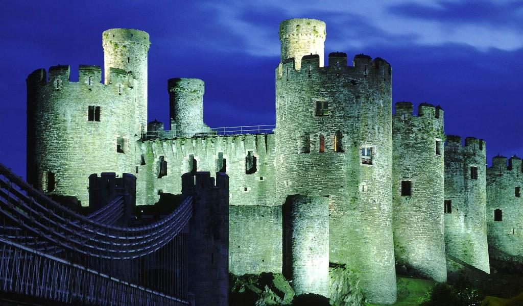 壁纸1024×600英国威尔士 世界文化遗产康威城堡壁纸壁纸 文化之旅地理人文景观一壁纸图片人文壁纸人文图片素材桌面壁纸