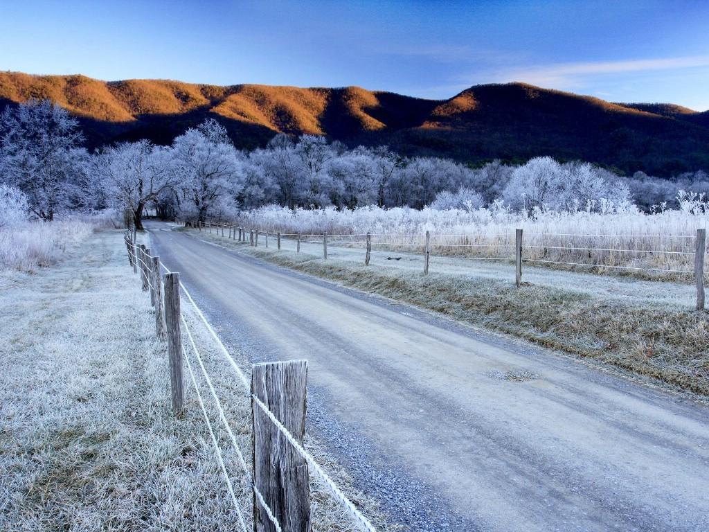 壁纸1024×768田纳西州 大烟山国家公园冬季壁纸壁纸 文化之旅地理人文景观一壁纸图片人文壁纸人文图片素材桌面壁纸