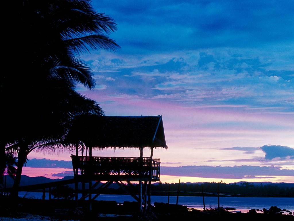 壁纸1024×768菲律宾 锡亚高岛黄昏壁纸壁纸 文化之旅地理人文景观一壁纸图片人文壁纸人文图片素材桌面壁纸