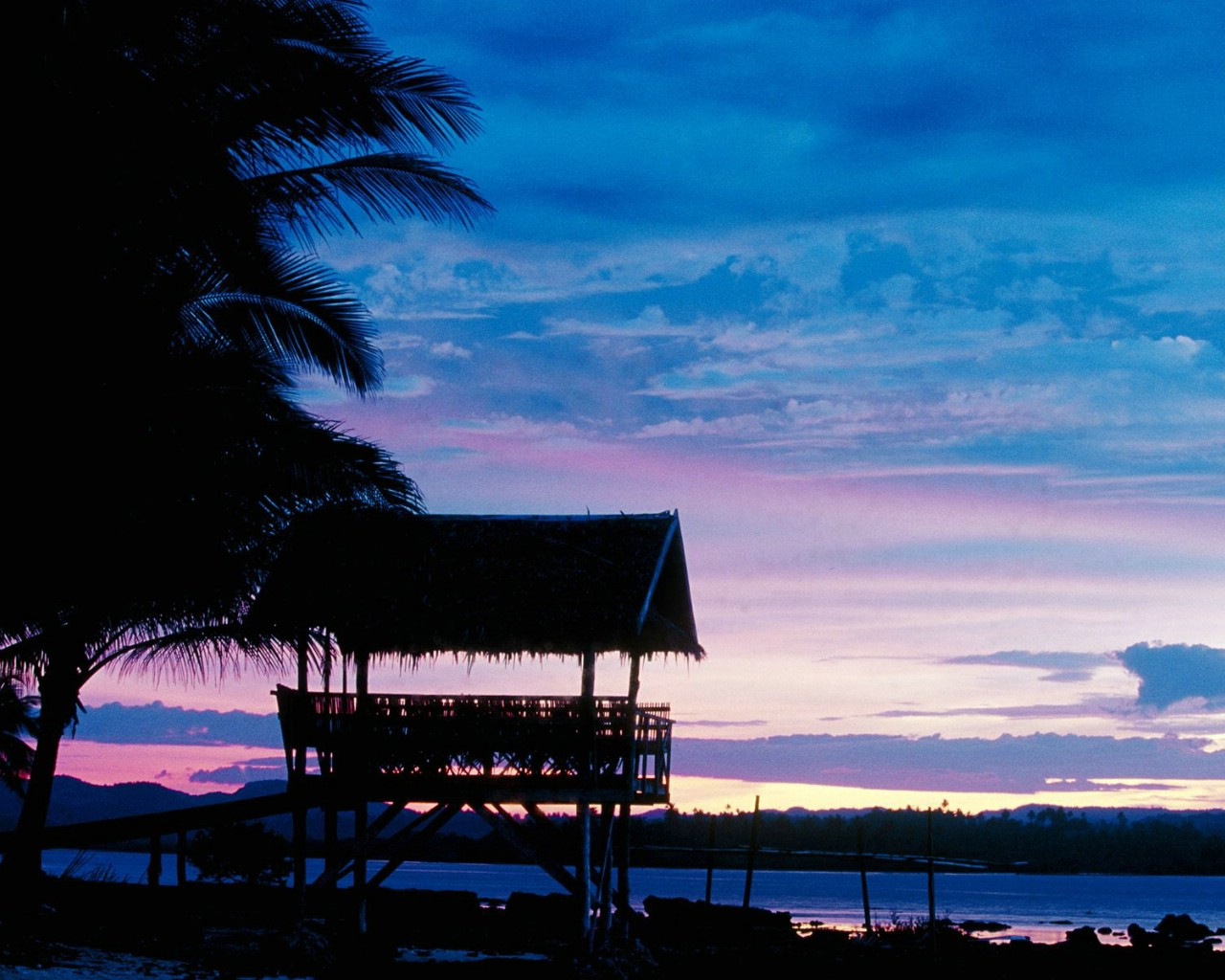 壁纸1280×1024菲律宾 锡亚高岛黄昏壁纸壁纸 文化之旅地理人文景观一壁纸图片人文壁纸人文图片素材桌面壁纸