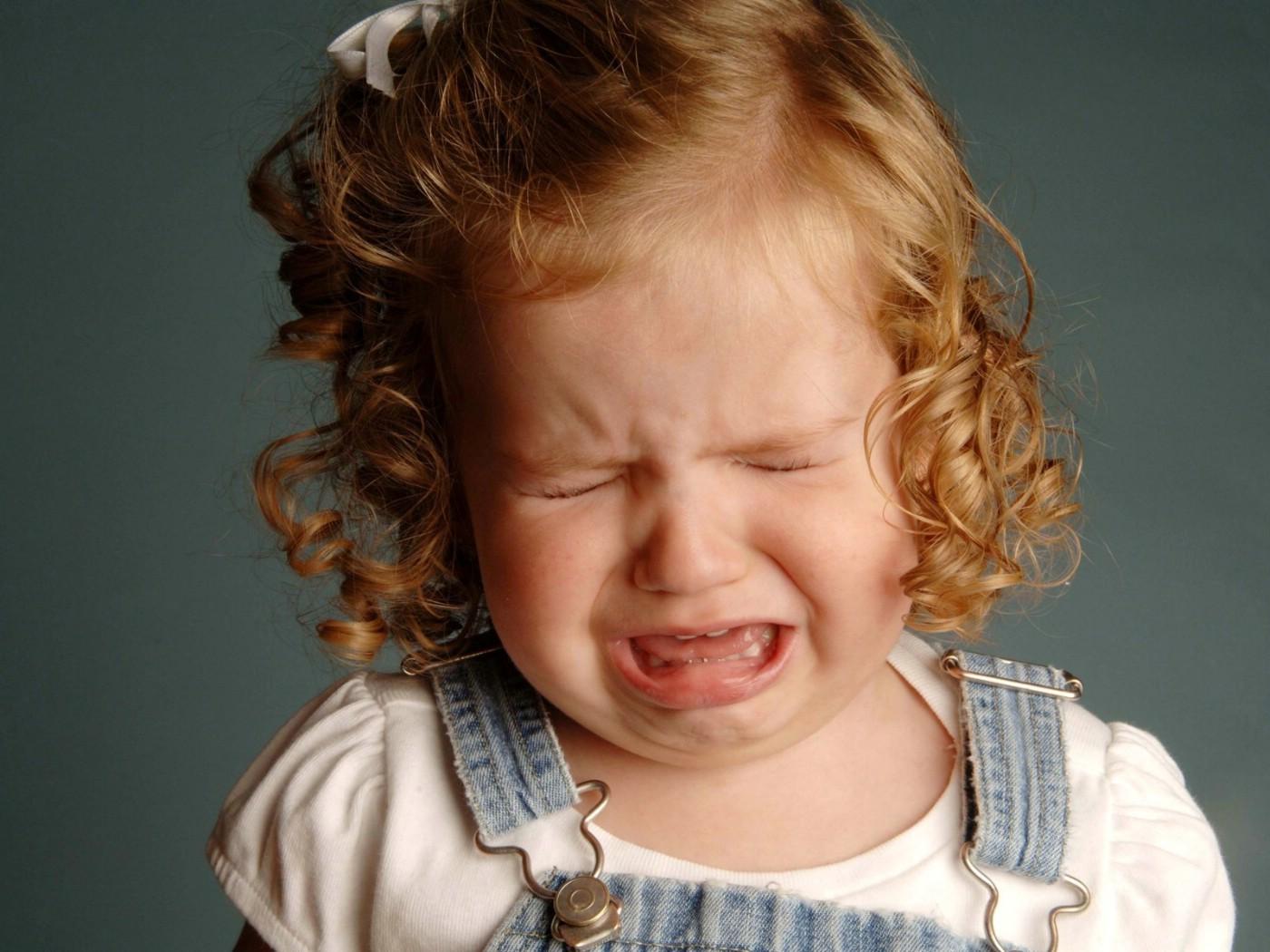 哭泣的小女孩图片壁纸