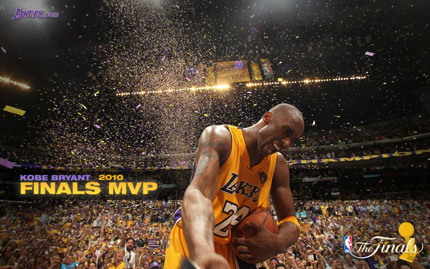 壁纸1680×1050洛杉矶湖人 2010NBA季后赛和总决赛冠军壁纸 Kobe Bryant Finals MVP ...