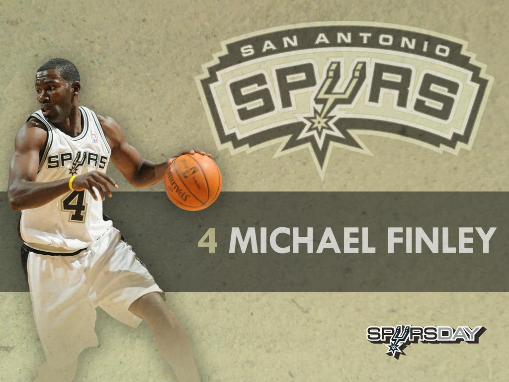 奥马刺球员阵容桌面壁纸 Michael Finley壁纸,NBA2009 10赛季圣安