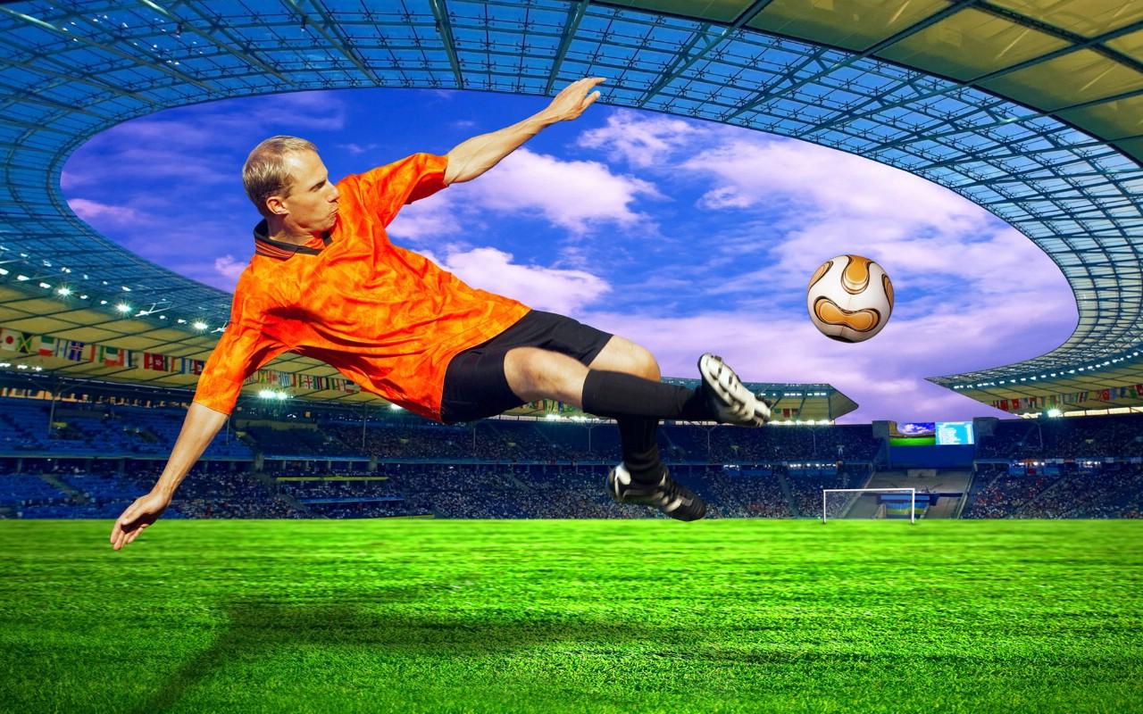 世界杯主题宽屏壁纸 足球场 世界杯主题CG设计