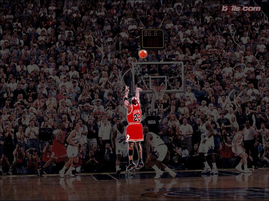 768NBA壁纸 公牛队NO 23 迈克尔 乔丹壁纸 Michael Jordan Desktop
