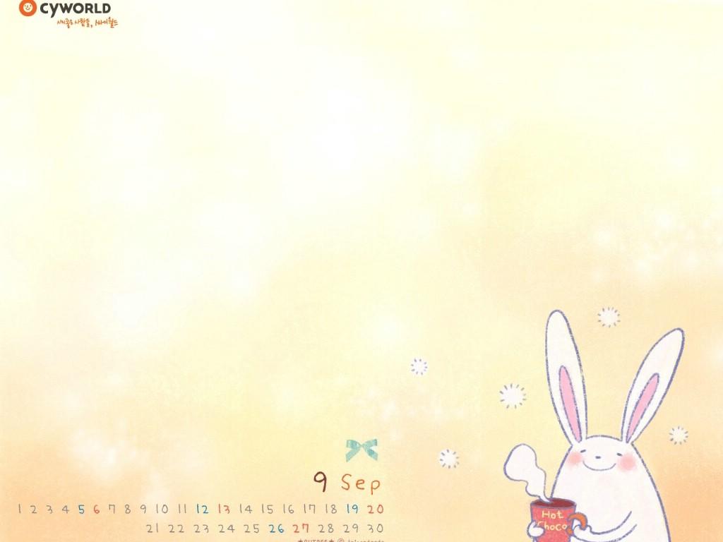 卡通 兔子 背景图片